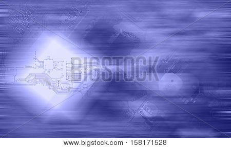 high technology concept, Electronic circuit board close up.