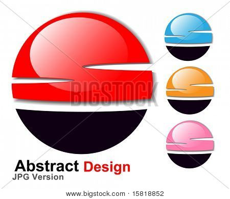 Jpeg version. Abstract symbol 3d glossy sphere, vector. Vector version in my portfolio.