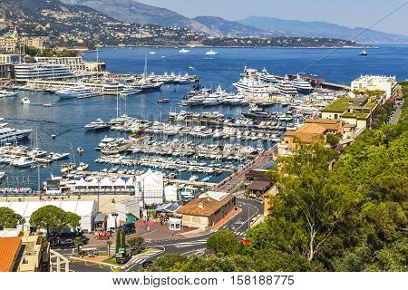 Luxury Yachts In Harbor Of Monte Carlo, Monaco