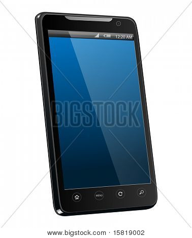 Mobile phone realistic vector illustration.