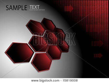 Abstract background red technology theme, vector.