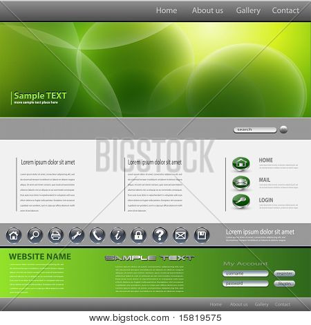 Website template, editable vector.