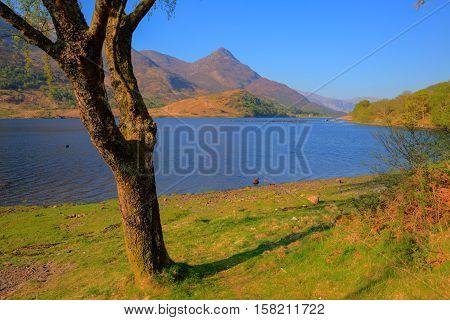 Loch Leven Scottish lake Scotland Scottish Highlands bright colourful