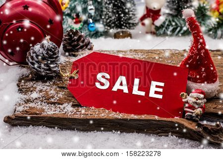 Christmas on sale with price tag shopping in Winter Boxing day