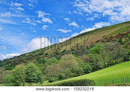 Beautiful Panoramic View Of  Snowdonia National Park