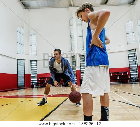 Coaching Basketball Sport Athlete Exercise Game Concept