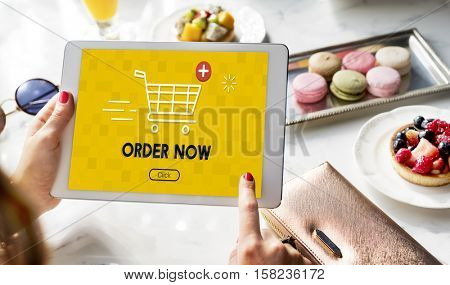 Shopping Online Cart Graphic Purchase Concept