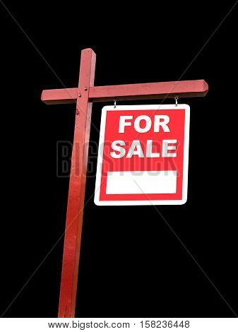 Isolated Transparent For Sale Sign For Home