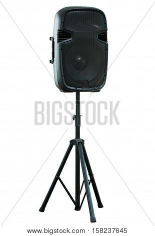 Sound Speaker Isolated On White With Clipping Path