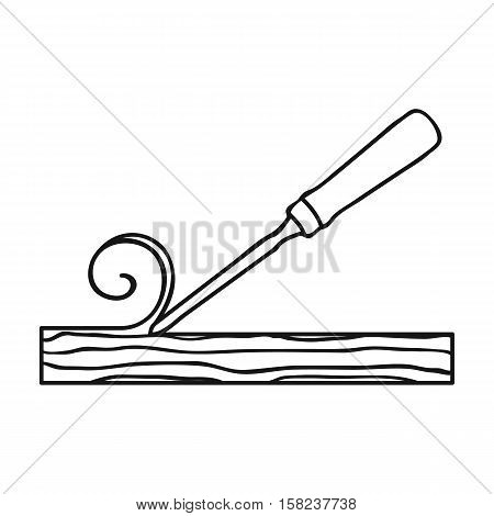 Chisel icon in  style isolated on white background. Sawmill and timber symbol vector illustration.