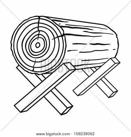 Goats for sawing icon in  style isolated on white background. Sawmill and timber symbol vector illustration.