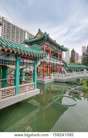 God Wish Garden At Wong Tai Sin Temple Kowloon Hk