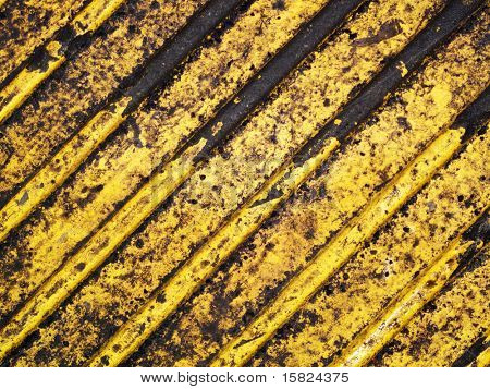 Grunge dirty yellow caution stripes background
