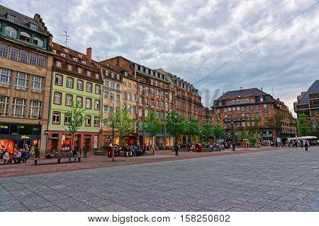 Place Kleber Square In Strasbourg Of France