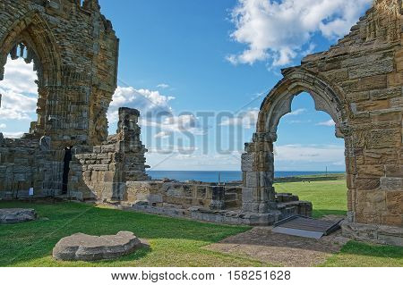 Remainings Of Whitby Abbey In North Yorkshire In The Uk