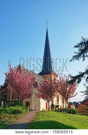 St Martin Church In Linz Am Rhein Germany