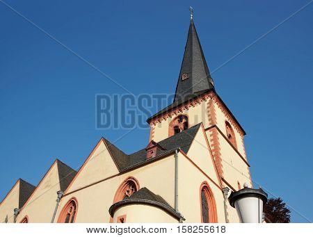 St Martin Church In Linz Am Rhein In Germany