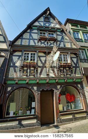 Timber House At City Center Of Linz Am Rhein Germany