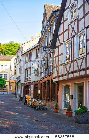 Timber Houses In Center In Linz Am Rhein Germany
