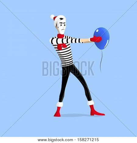 Winter Mime Performance With Ballon