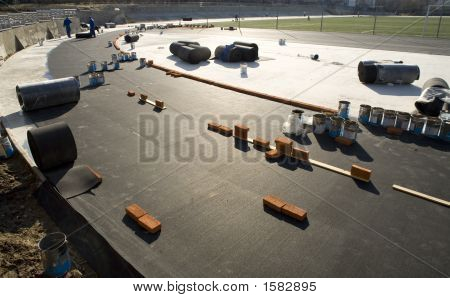 The Workers Building A Racetrack