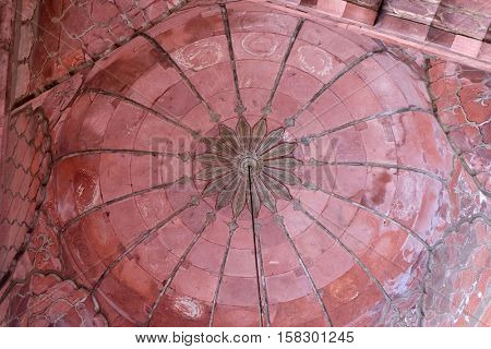 DELHI, INDIA - FEBRUARY 13 : Architectural detail of Jama Masjid Mosque on February 13, 2016, Delhi, the most important mosque in India.