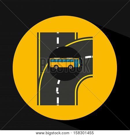 bus transport public type road vector illustration eps 10
