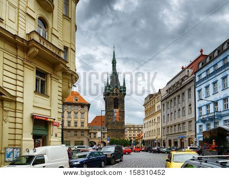 The Henry Bell Tower (jindrisska Tower) In Prague