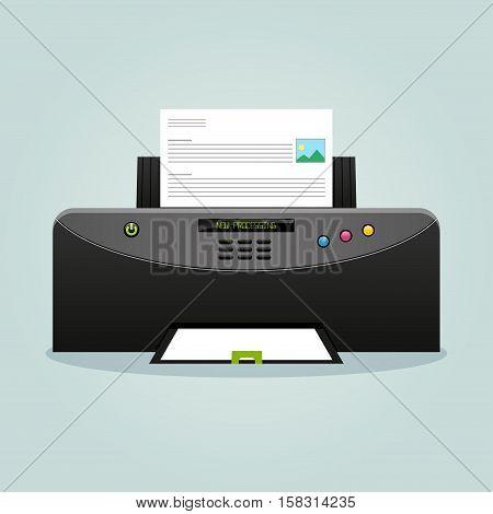 Illustration of printer design icon modern concept
