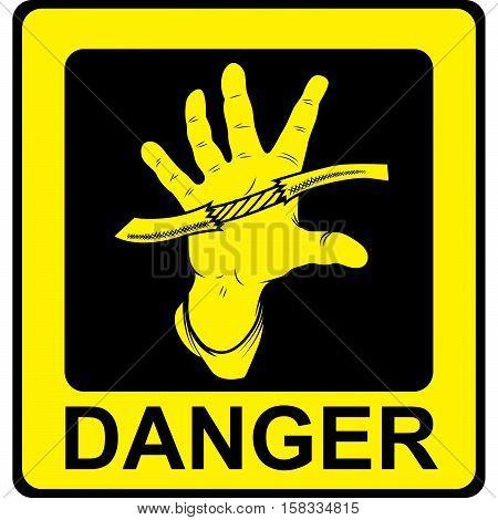 Danger Vector Sign. Danger High Voltage Isolated.