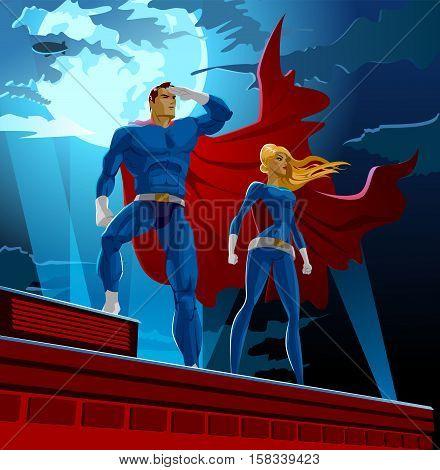 Superhero Couple Male
