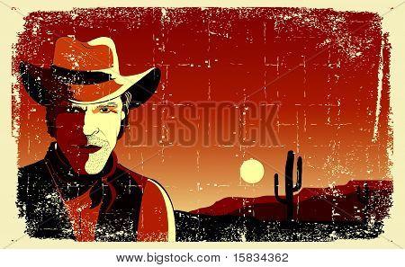 Portrait Of Cowboy Man