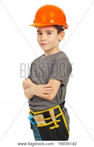 Youth Boy Wearing Helmet