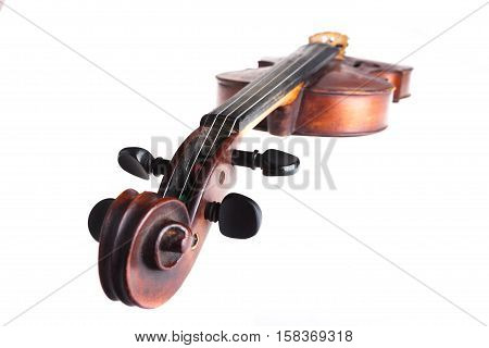 Top View of a Violin, Isolated on White