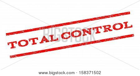 Total Control watermark stamp. Text tag between parallel lines with grunge design style. Rubber seal stamp with dust texture. Vector red color ink imprint on a white background.
