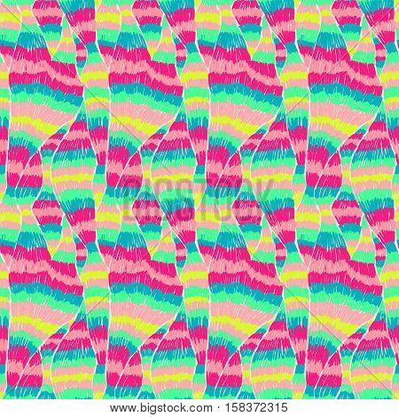 Boho Tie Dye Pattern Ethnic Textile Ikat Light Colorful