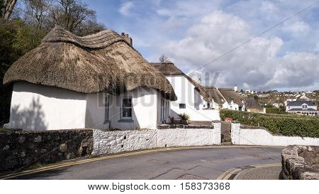Thatched Houses settlement in Dunmore East a small village in Co.WaterfordIreland
