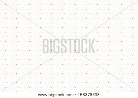 Geometric seamless pattern with connected line and dots. Graphic background connectivity. Modern stylish polygonal backdrop for your design. Vector illustration
