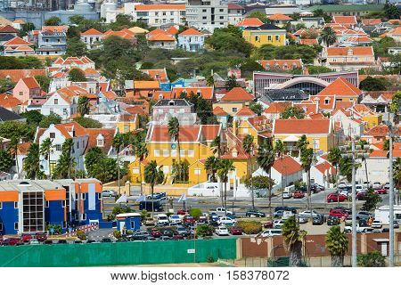 Dutch Antilles and Curacao residential district in the Caribbean