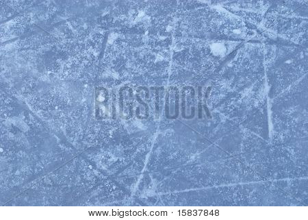 Ice Rink With Snow Texture