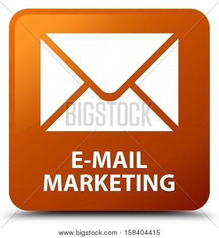 E-mail marketing (email icon) brown square button