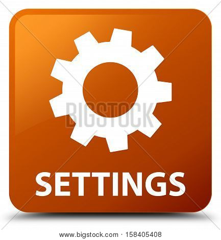 Settings (gear icon) on brown square button