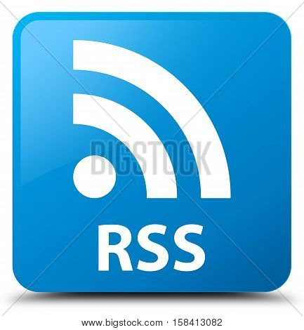 RSS (newsfeed icon) cyan blue square button