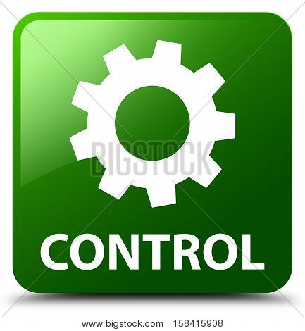 Control (settings icon) isolated on abstract green square button