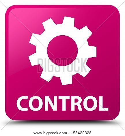 Control (settings icon) on pink square button