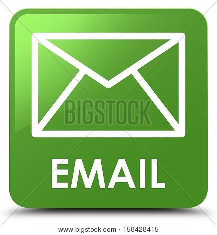 Email soft isolated on abstract green square button