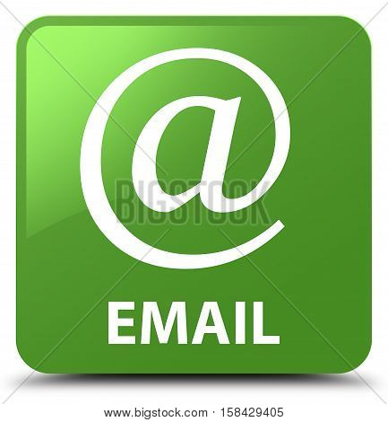 Email (address Icon) Soft Green Square Button