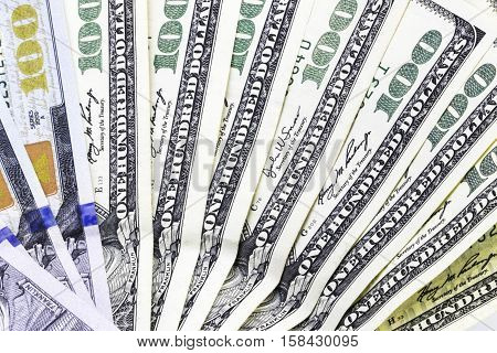 Background Of  Dollar Bills, Money From Usa