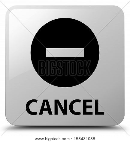 Cancel (cancel icon) on white square button