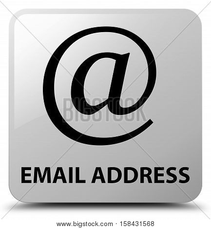 Email address icon on white square button